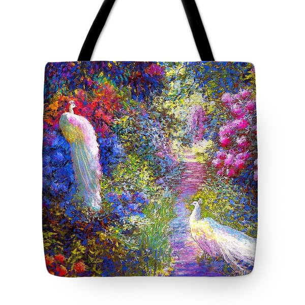 White Peacocks, Pure Bliss Tote Bag