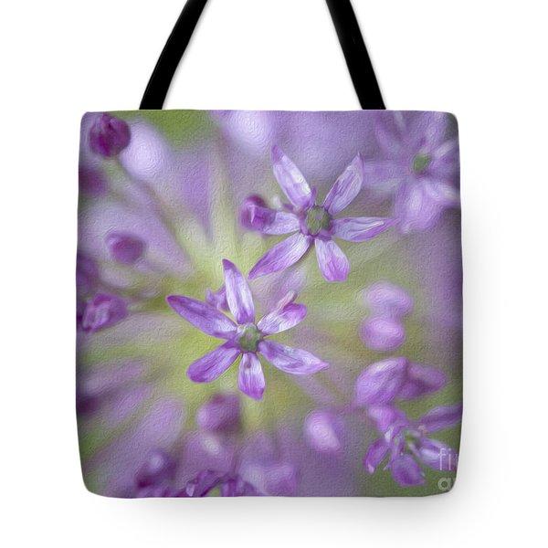 Purple Allium Flower Tote Bag by Juli Scalzi