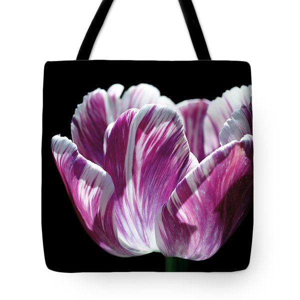 Purple And White Marbled Tulip Tote Bag