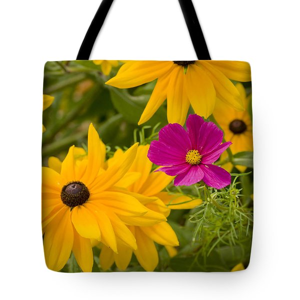 Purple And Yellow Flowers Tote Bag