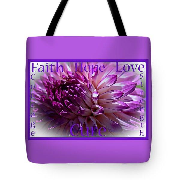 Purple Awareness Support Tote Bag