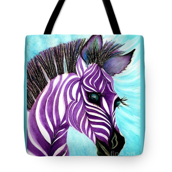 Purple Baby Zebra Tote Bag
