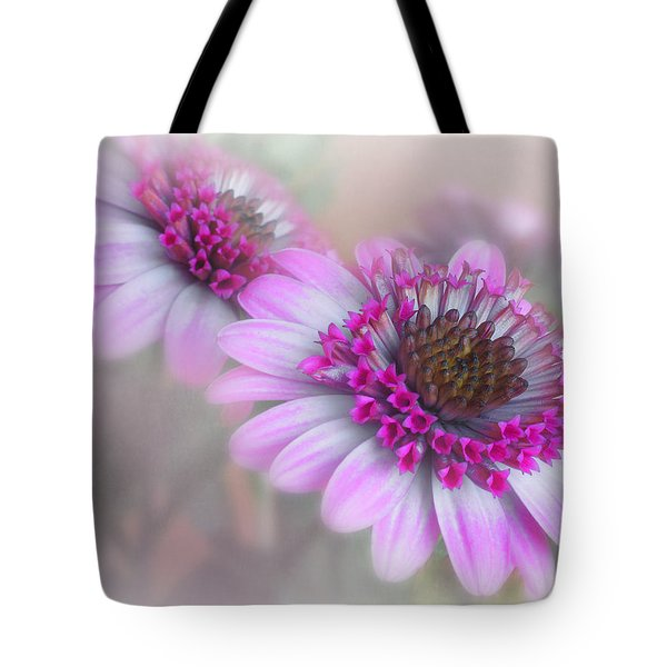 Purple Blooms Tote Bag by David and Carol Kelly