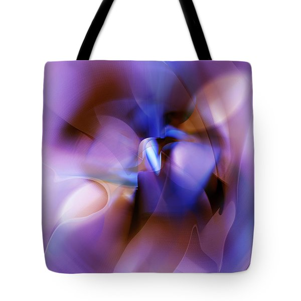 Purple Blossom Abstract Tote Bag by rd Erickson