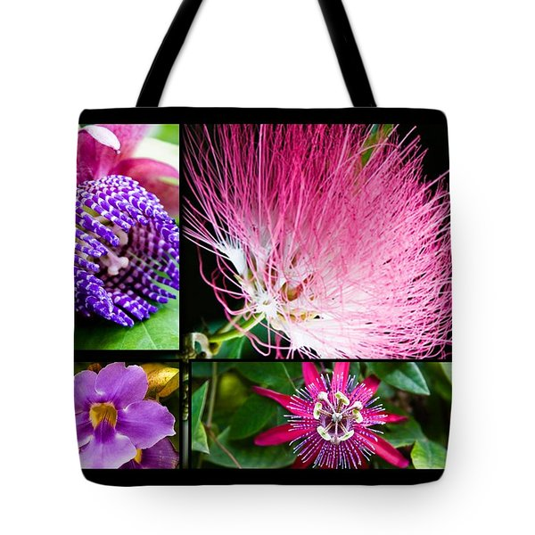 Purple Bouquet Tote Bag