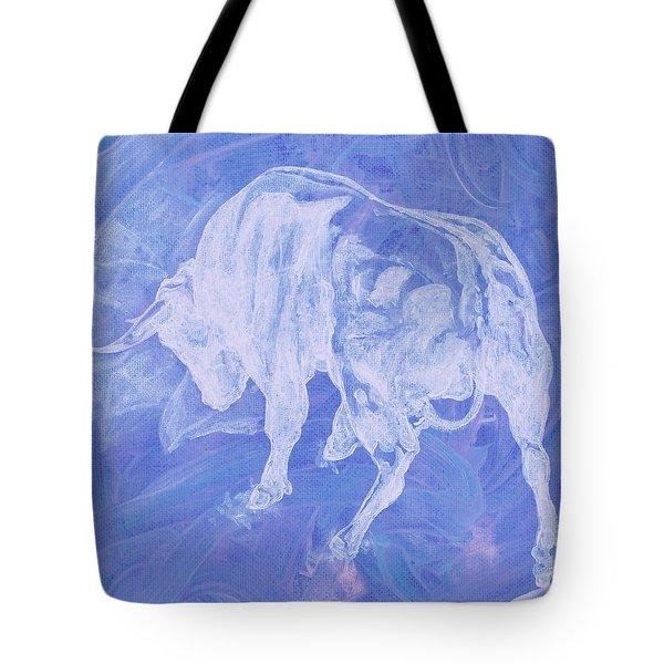 Purple Bull Negative Tote Bag