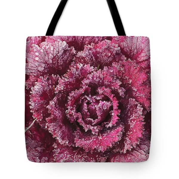 Purple Cabbage On A Frosty Morning Mill Tote Bag by Stuart Westmorland