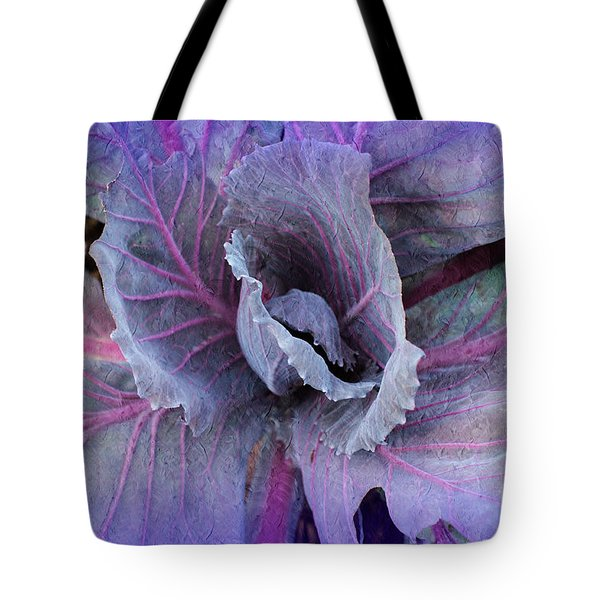 Purple Cabbage - Vegetable - Garden Tote Bag