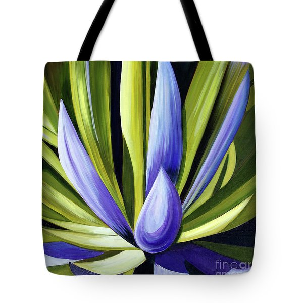 Purple Cactus Tote Bag by Debbie Hart