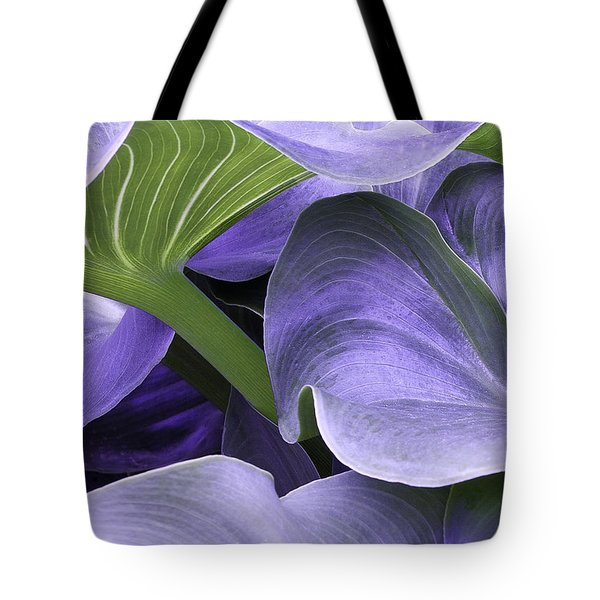 Tote Bag featuring the photograph Purple Calla Lily Bush by Richard J Thompson
