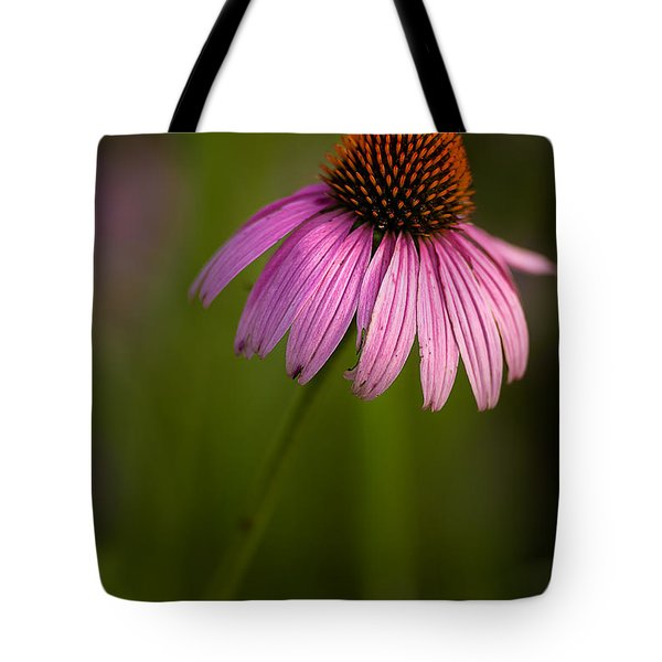 Purple Cone Flower Portrait Tote Bag