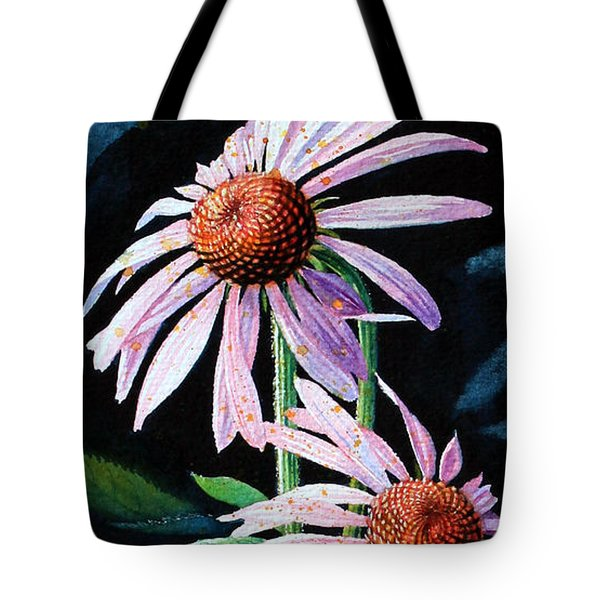 Purple Cone Flowers 1 Tote Bag by Hanne Lore Koehler