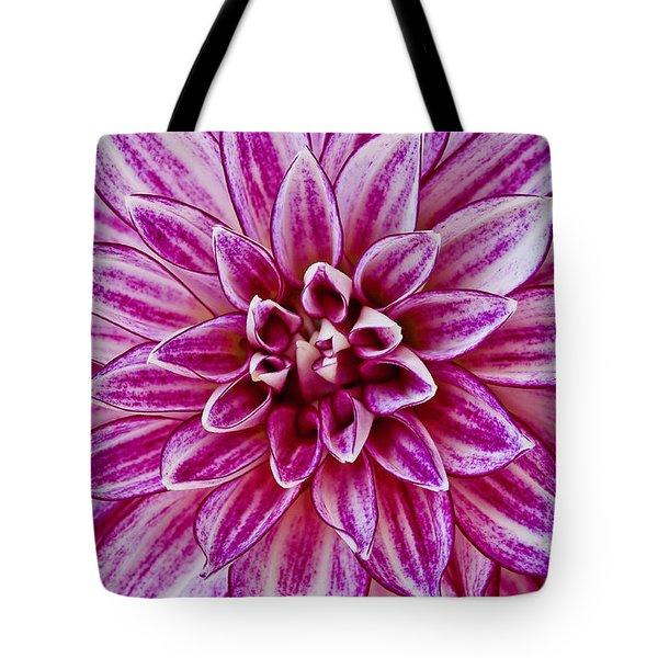 Purple Dahlia Tote Bag
