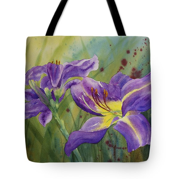 Purple Day Lily Tote Bag