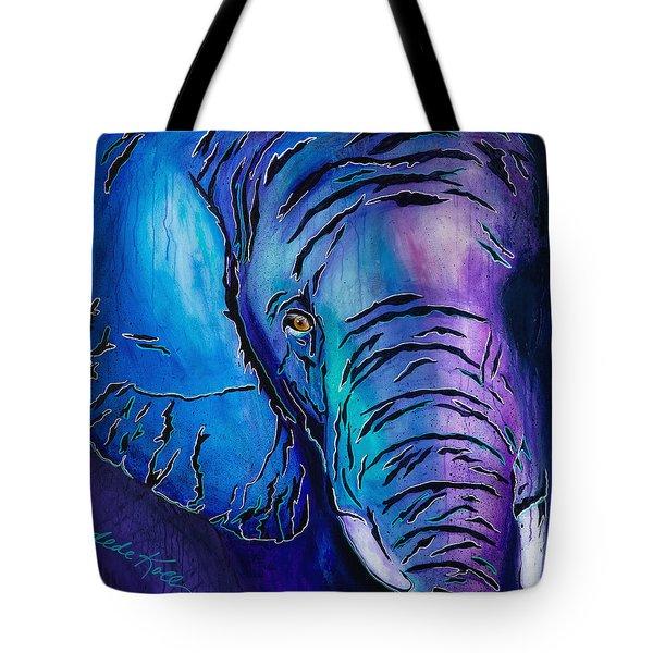 Purple Elephant Tote Bag