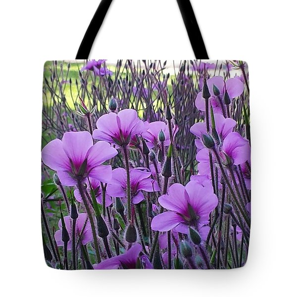Tote Bag featuring the photograph Purple Field by Jasna Gopic