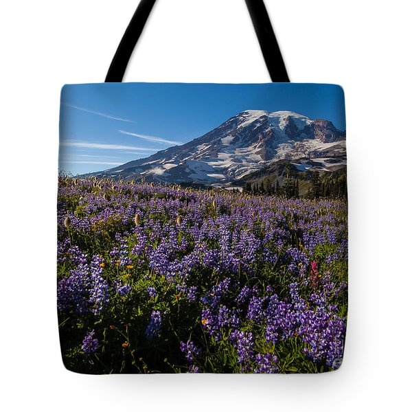 Purple Fields Forever And Ever Tote Bag by Mike Reid