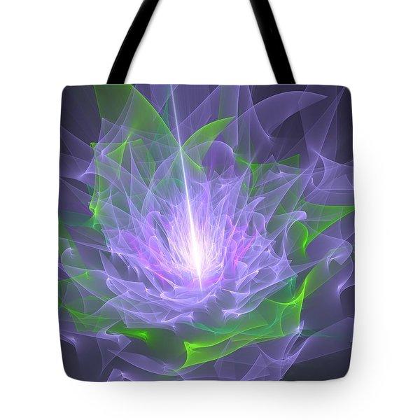 Purple Flame Tote Bag by Svetlana Nikolova