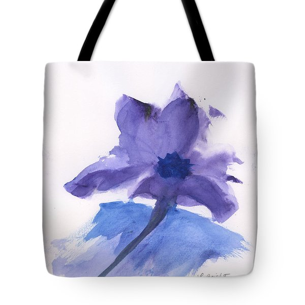 Tote Bag featuring the painting Purple Flower by Frank Bright