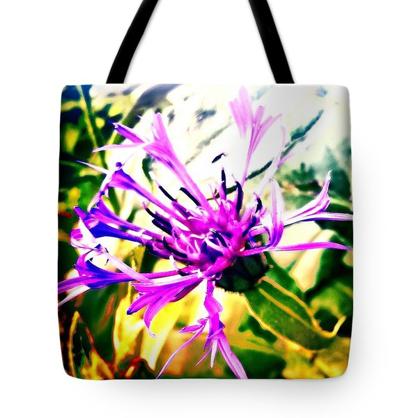 Purple Flower Tote Bag by Jason Michael Roust