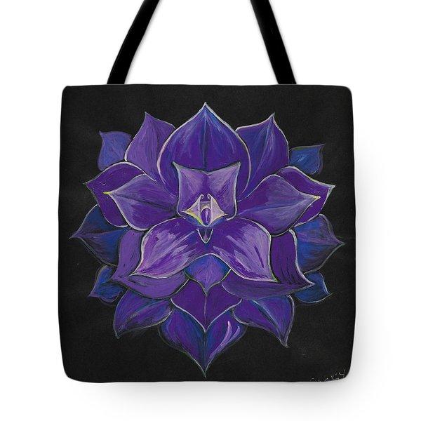 Purple Flower - Painting Tote Bag by Veronica Rickard