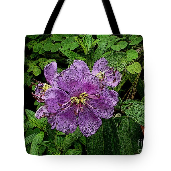 Tote Bag featuring the photograph Purple Flower by Sergey Lukashin