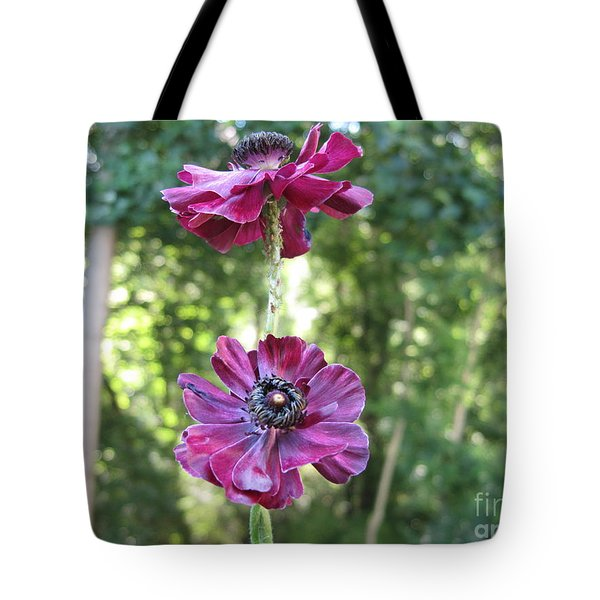 Tote Bag featuring the photograph Purple Flowers by HEVi FineArt