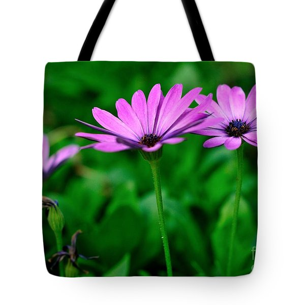 Tote Bag featuring the photograph Purple Flowers by Joe  Ng