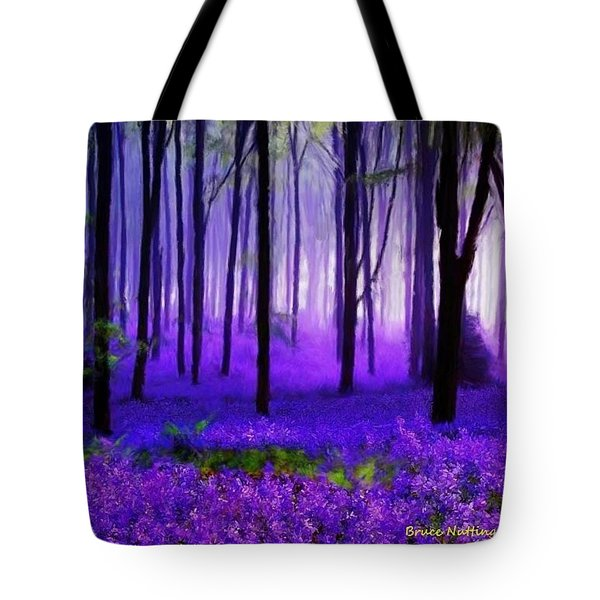 Purple Forest Tote Bag by Bruce Nutting