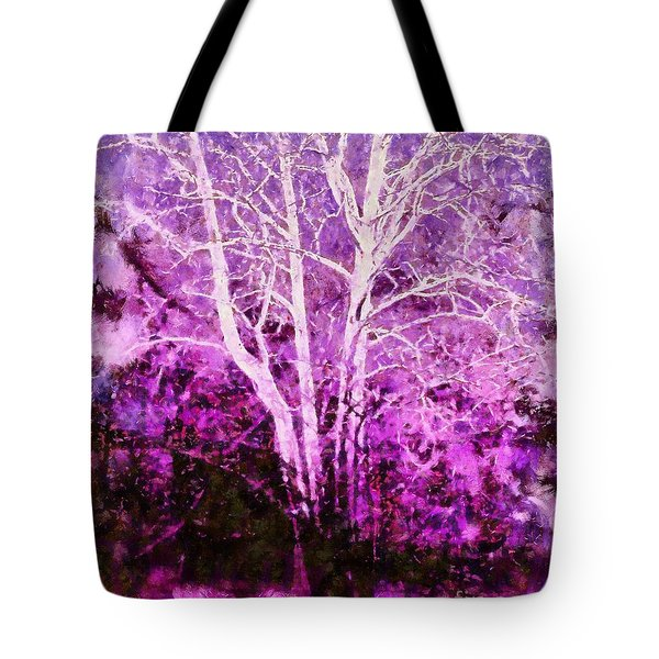 Purple Forest Fantasy Tote Bag by Janine Riley