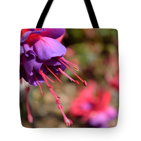 Tote Bag featuring the photograph Purple Fuchsia by Scott Lyons