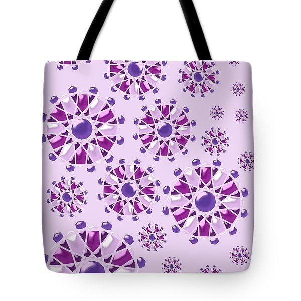 Purple Gems Tote Bag by Anastasiya Malakhova