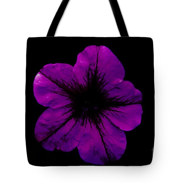 Tote Bag featuring the photograph Purple Geranium by Scott Lyons