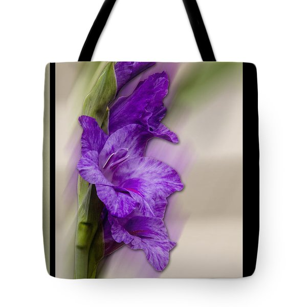Purple Gladiolus Bloom Tote Bag