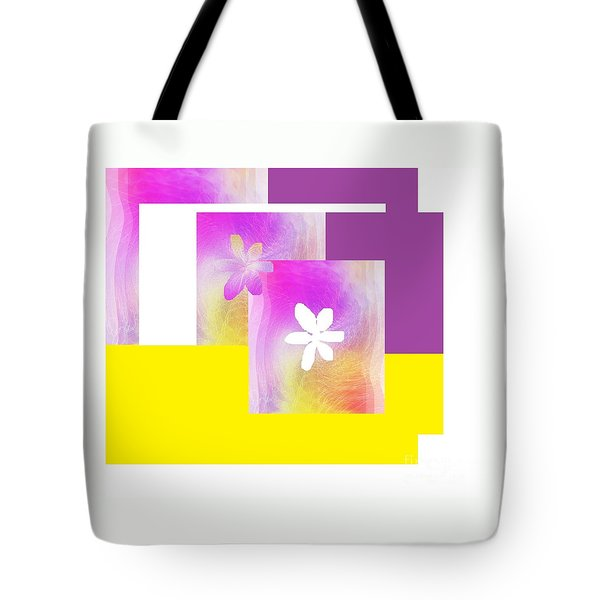 Purple Glow Flower Tote Bag