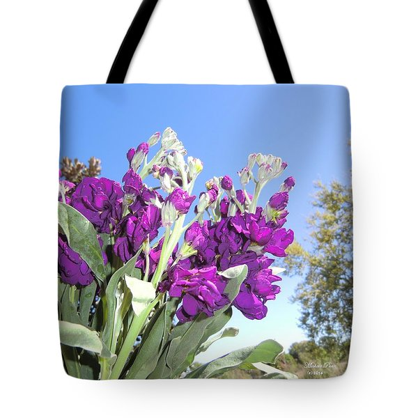 Purple Glow Tote Bag
