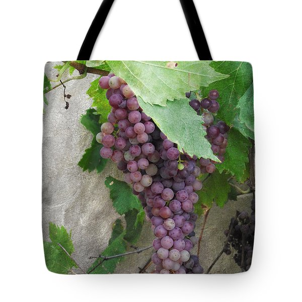 Purple Grapes On The Vine Tote Bag