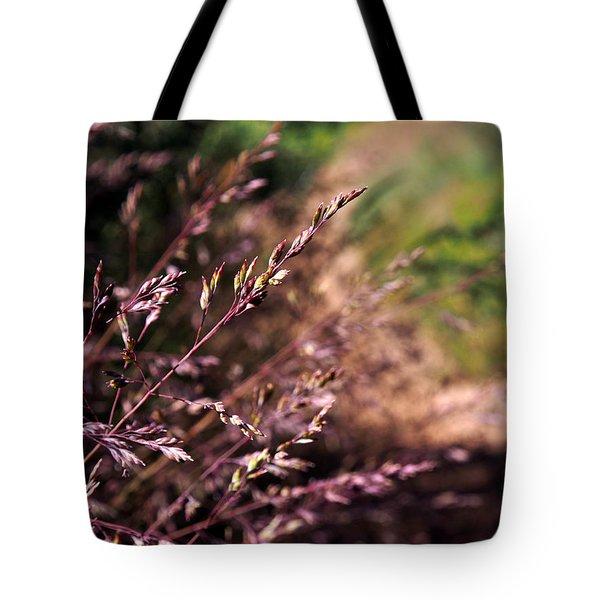 Purple Grass Tote Bag by Kaleidoscopik Photography