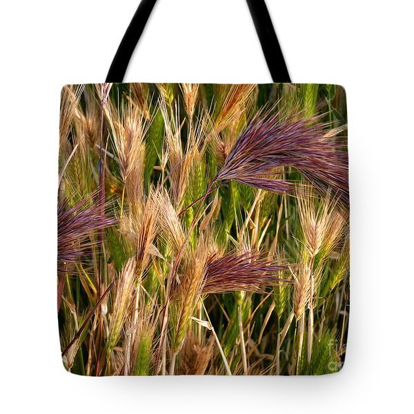 Purple Grasses Tote Bag