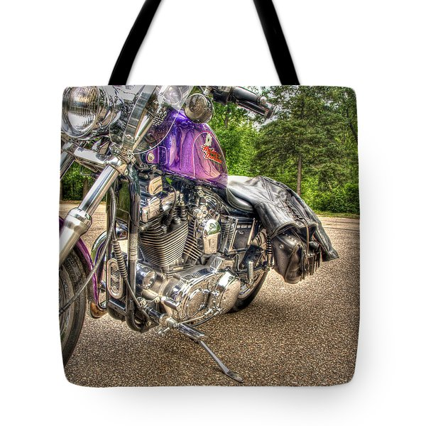 Purple Harley Tote Bag