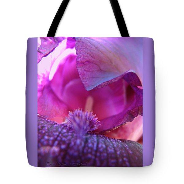 Purple Haze - Iris - Floral Macro Tote Bag