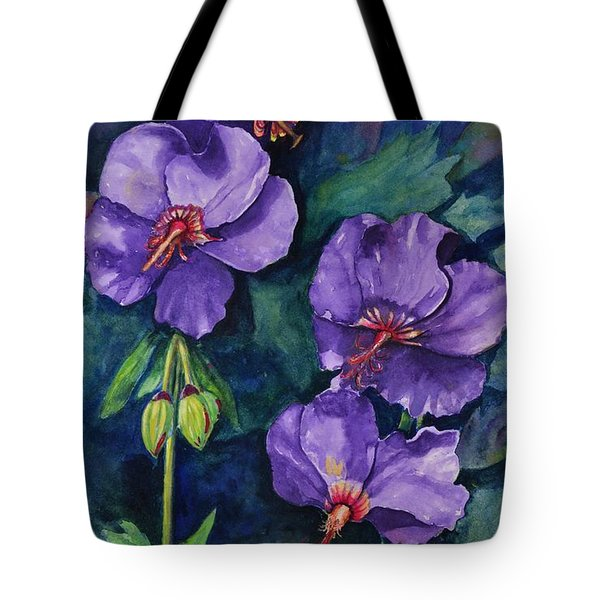 Purple Hibiscus Tote Bag