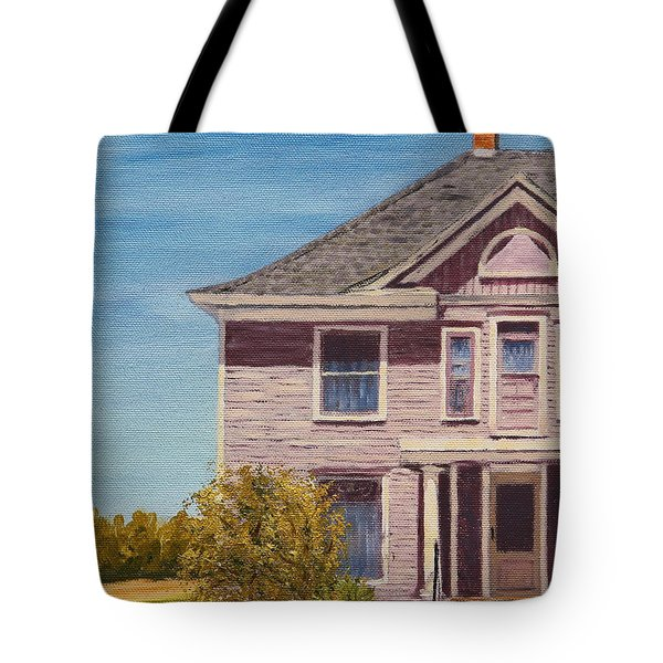 Purple House On The Prairie Tote Bag