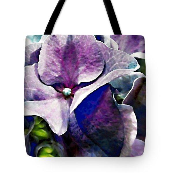 Purple Hydrangea  Flower Tote Bag by Danielle  Parent