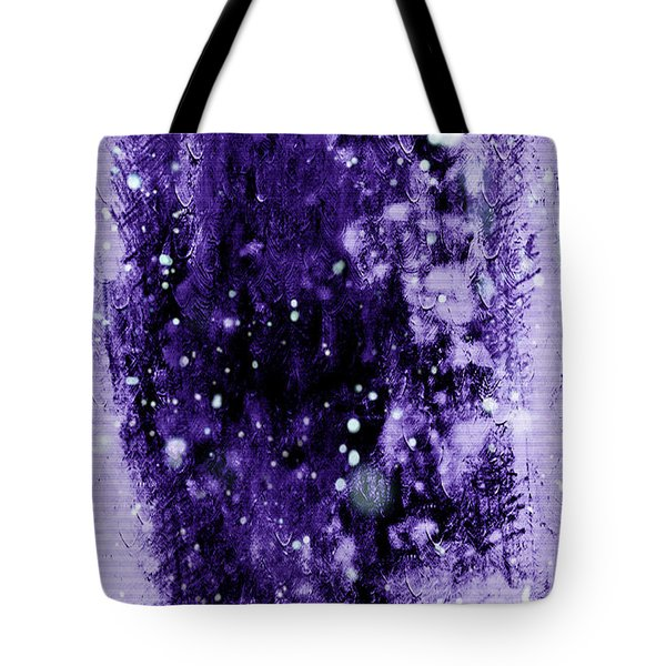 Purple Impression Tote Bag