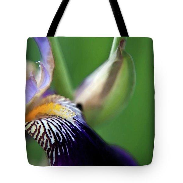 Purple Iris 2 Tote Bag by Theresa Tahara