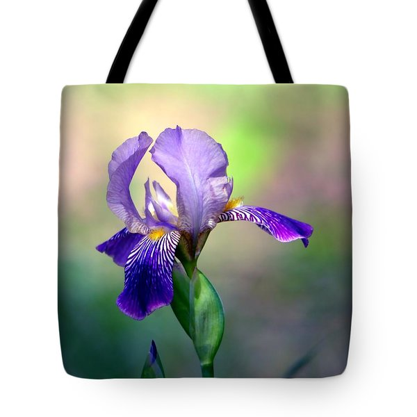 Purple Iris Tote Bag by Deena Stoddard