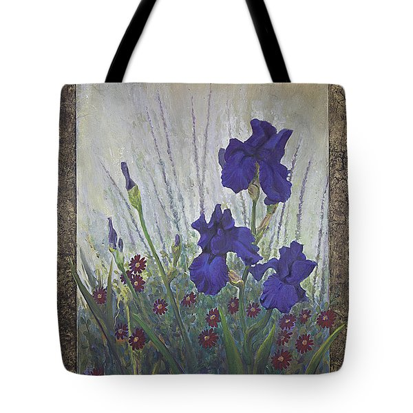 Purple Iris Tote Bag by Rob Corsetti