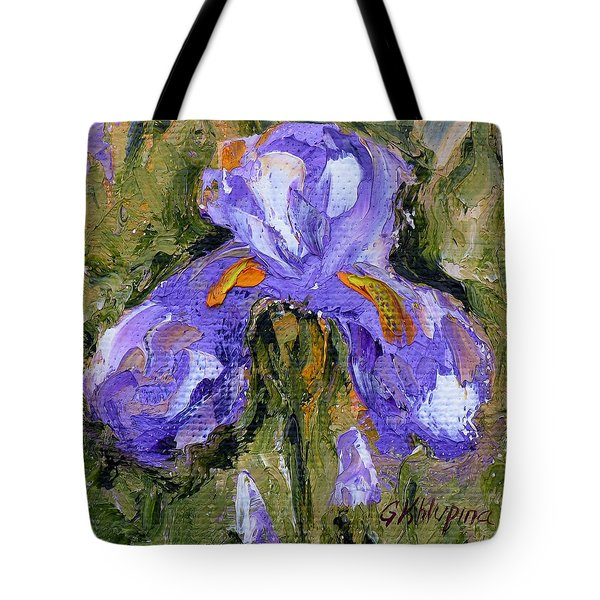 Purple Iris2 Tote Bag