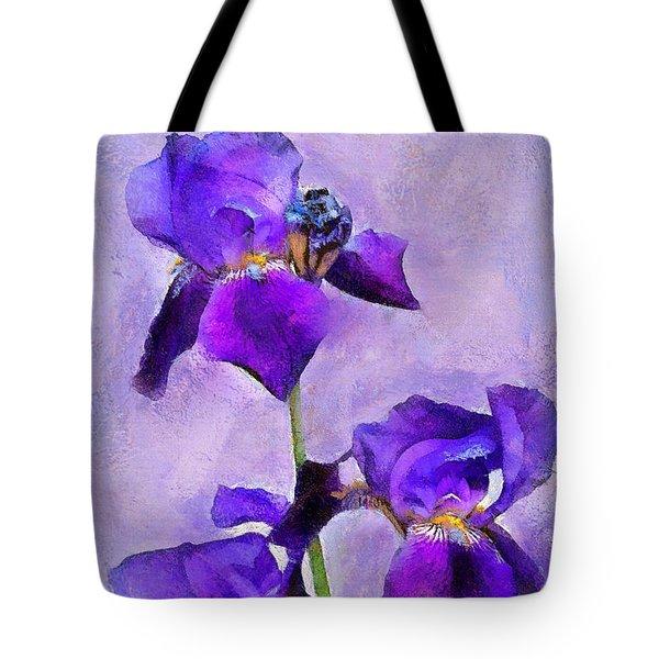 Purple Irises - Painted Tote Bag